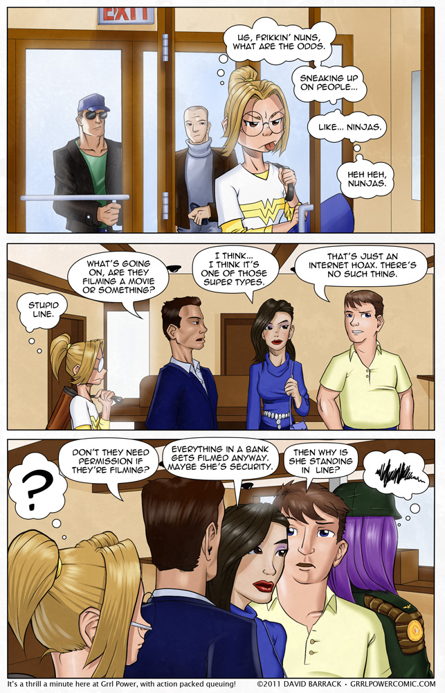 Grrl Power #35 – Purple Hair? No chance she's a main character.