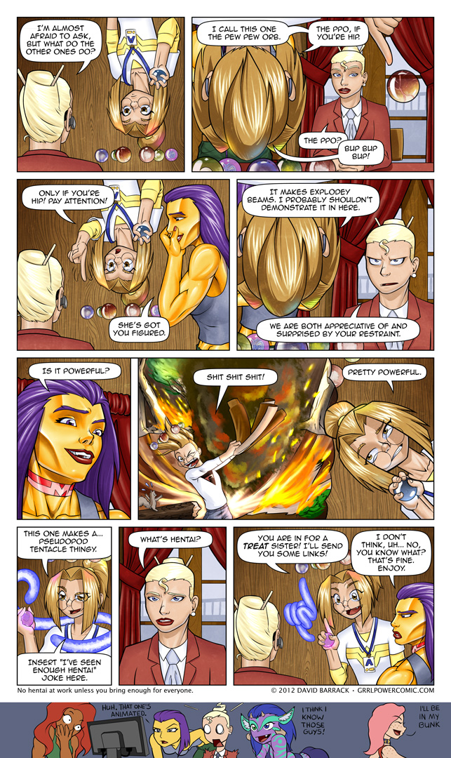 "Grrl Power #88 – ""Restraint"" generally not a word used to describe her"