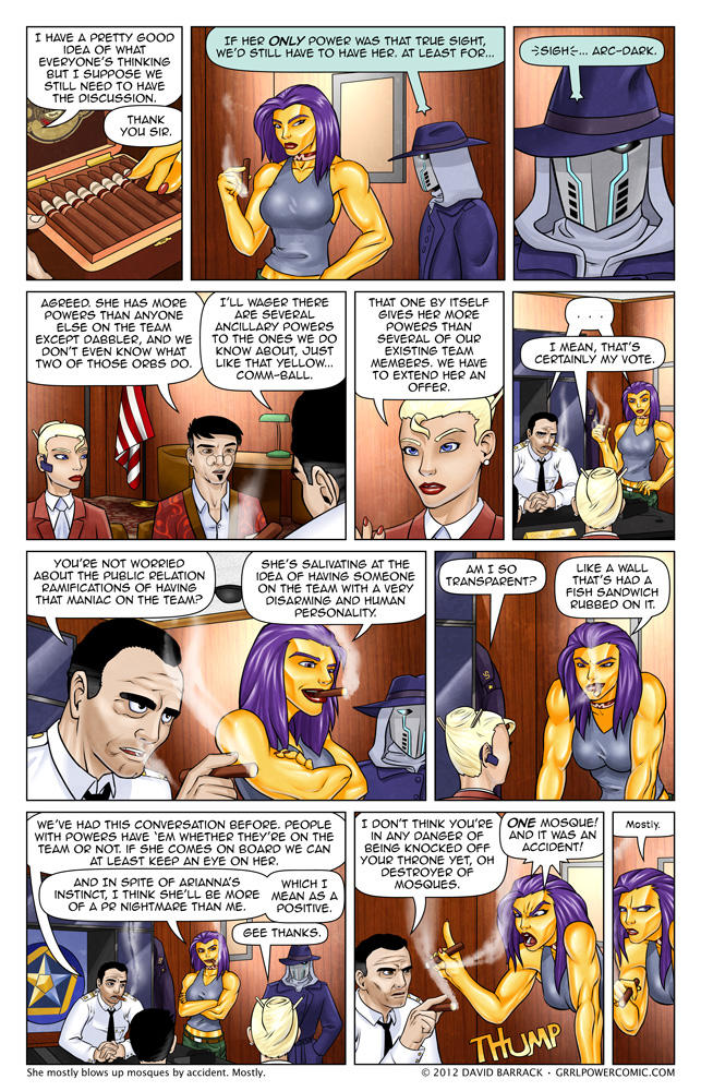 Grrl Power #113 – Secret meetings in smoky wood paneled rooms
