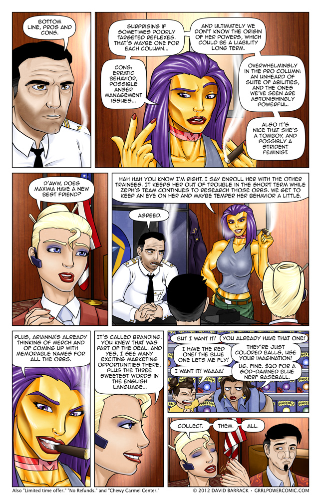 Grrl Power #114 – Merchandising gives her the vapors