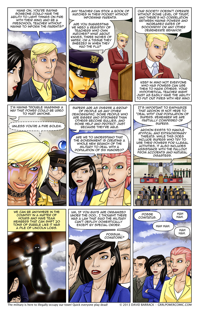 Grrl Power #146 – Opossum Ocomitatus?