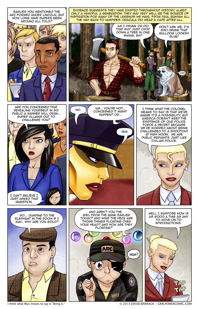 Grrl Power #149 – Let's cut to the chase