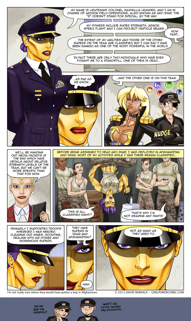 Grrl Power #150 – Not sure where Max stencils her kill marks