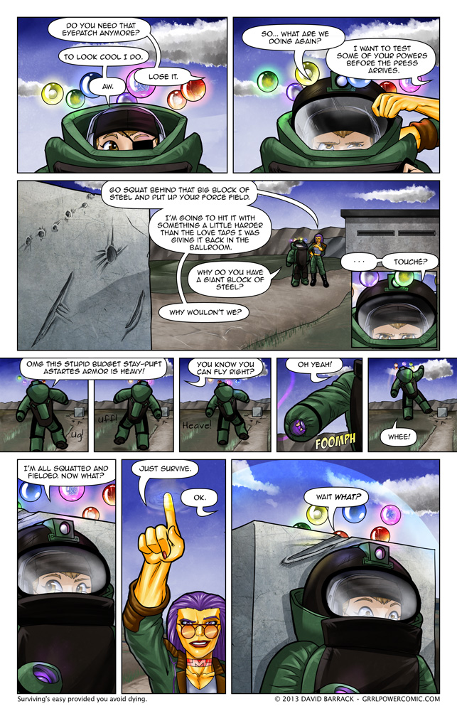 Grrl Power #159 – Safety is job one. Well, maybe two or three