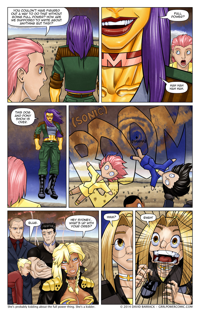 Grrl Power #178 – Maxima DGAF -or- The cliff has been hanged