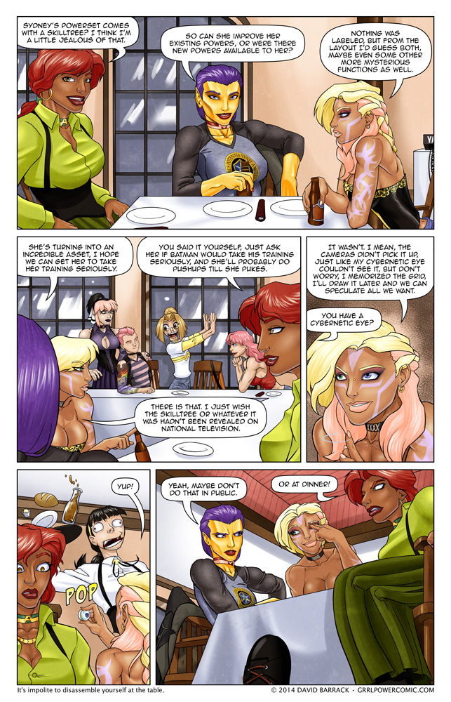 Grrl Power #182 – A little light dinner speculation