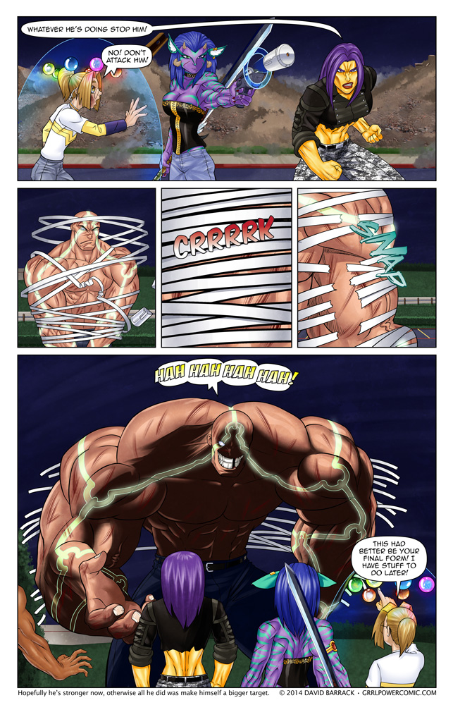 Grrl Power #267 – Don't worry, he's got nothing on Frieza