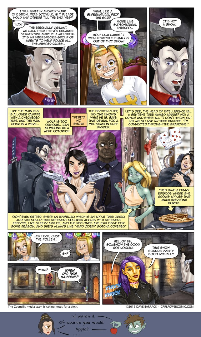Grrl Power #467 – Pitch(ed out) meeting