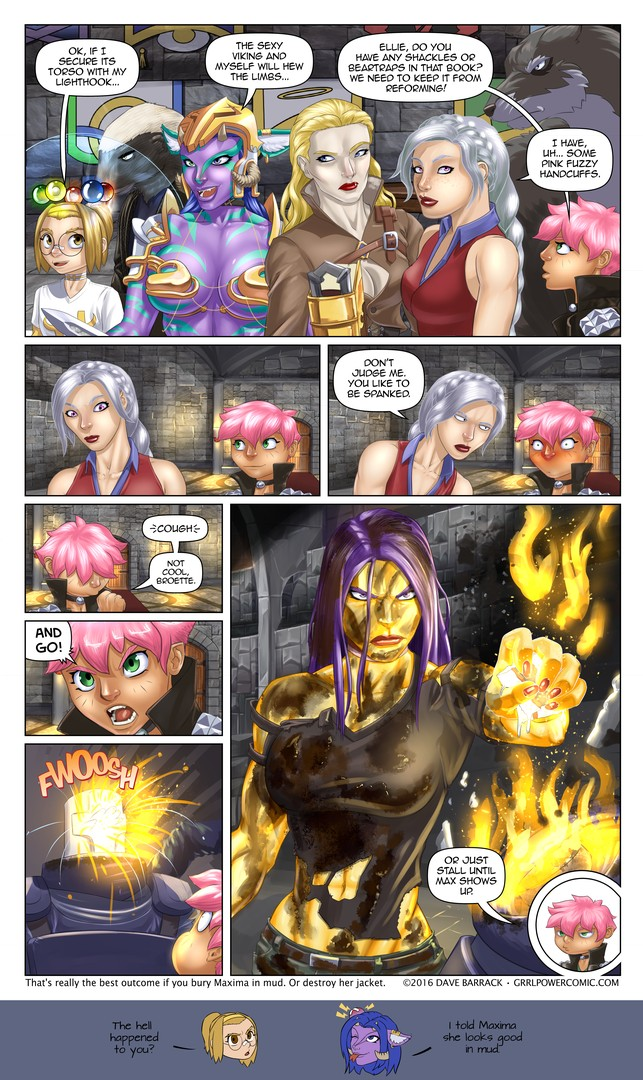 Grrl Power #485 – Miniboss fight music record scratch