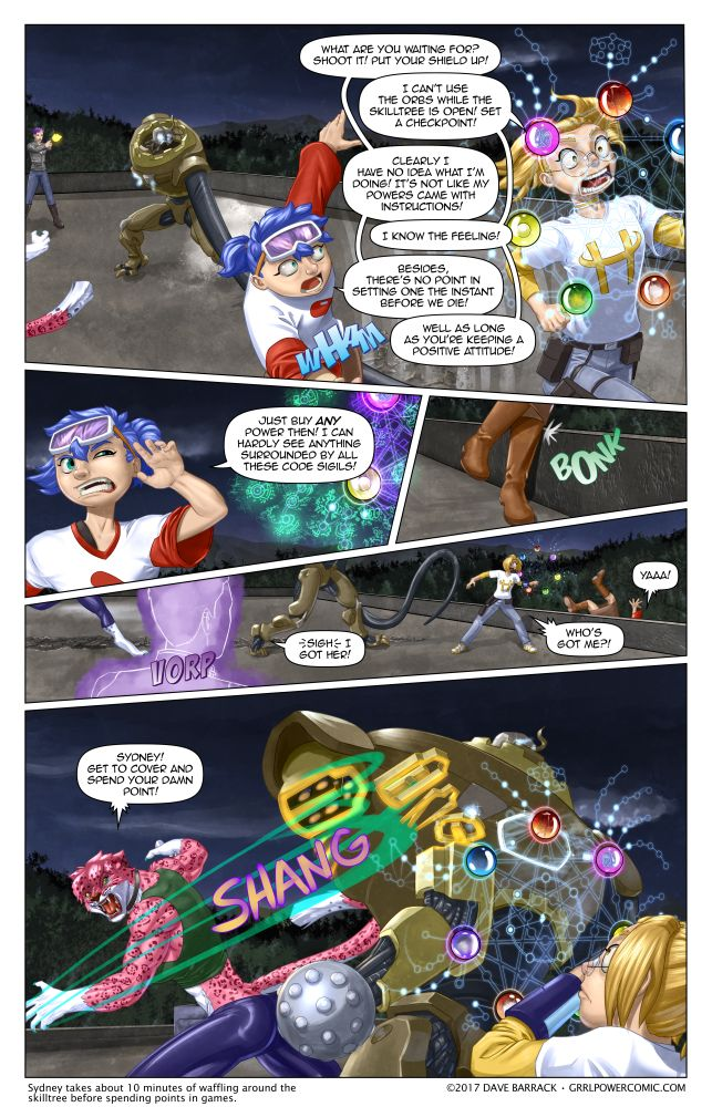 Grrl Power #508 – Sydney needs work on her combat multitasking