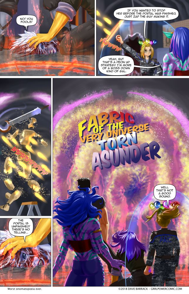Grrl Power #633 – The universe's buttholes = X+1
