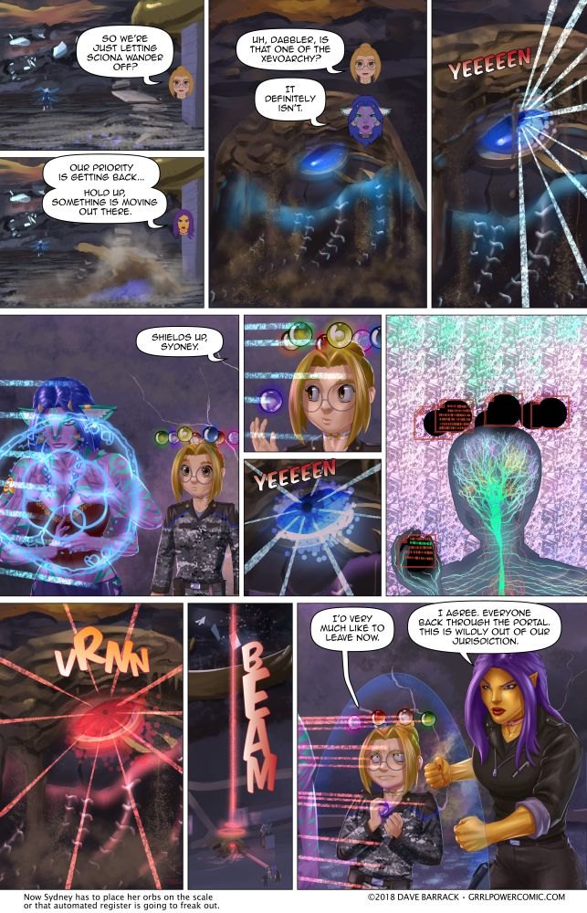 Grrl Power #641 – Well that's probably not good