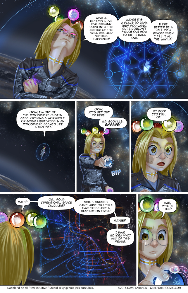 Grrl Power #672 – Engage… your advanced math skills