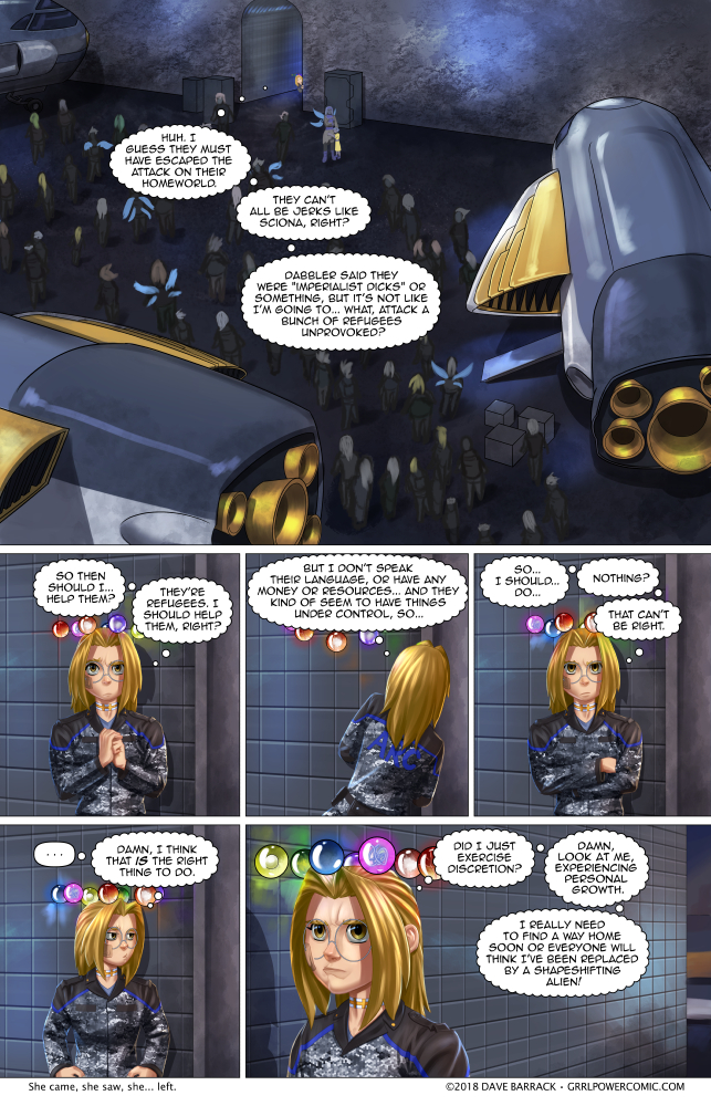 Grrl Power #683 – Observe and ignore