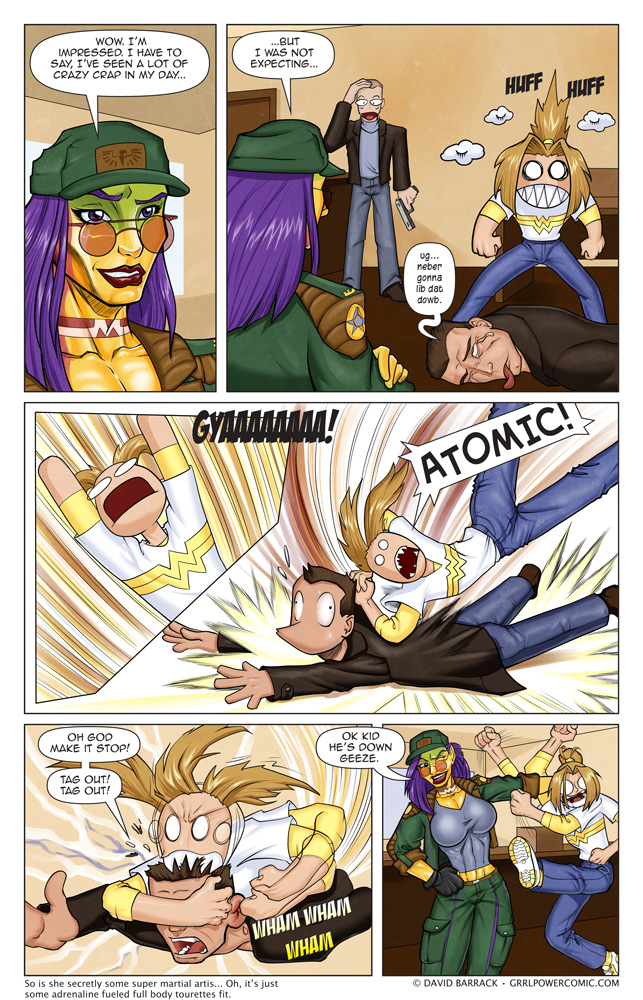 Grrl Power #43 – Kick 'em while they're down. Or bite.
