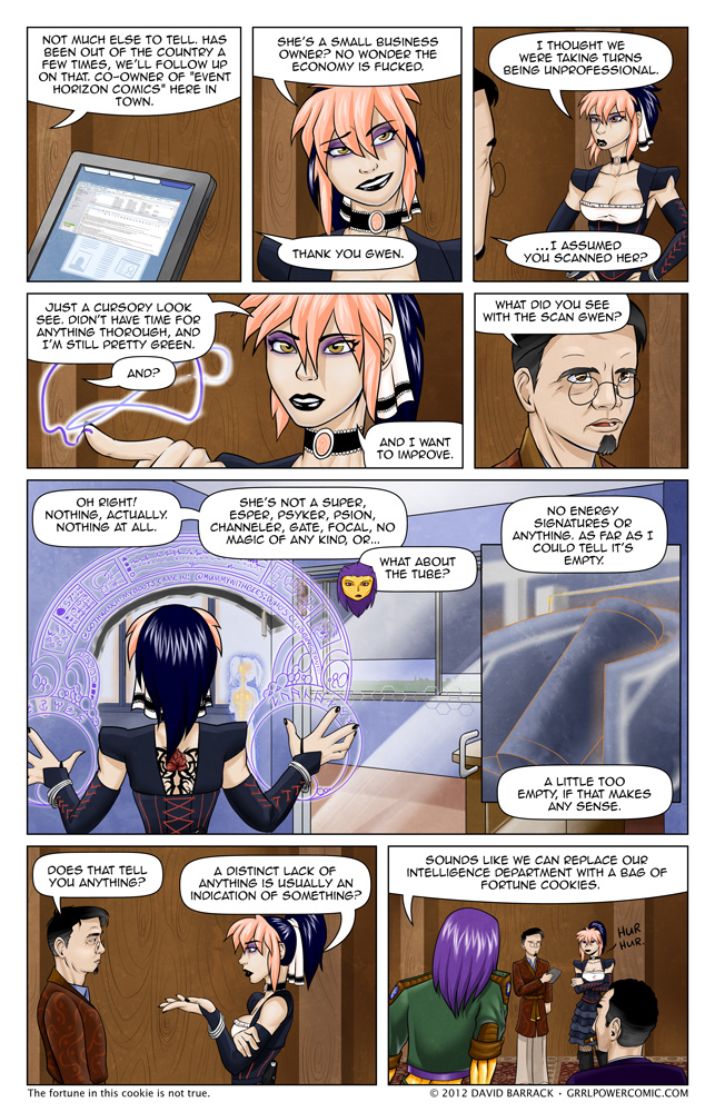 Grrl Power #80 – She used this spell to scan a hotdog once. Once.