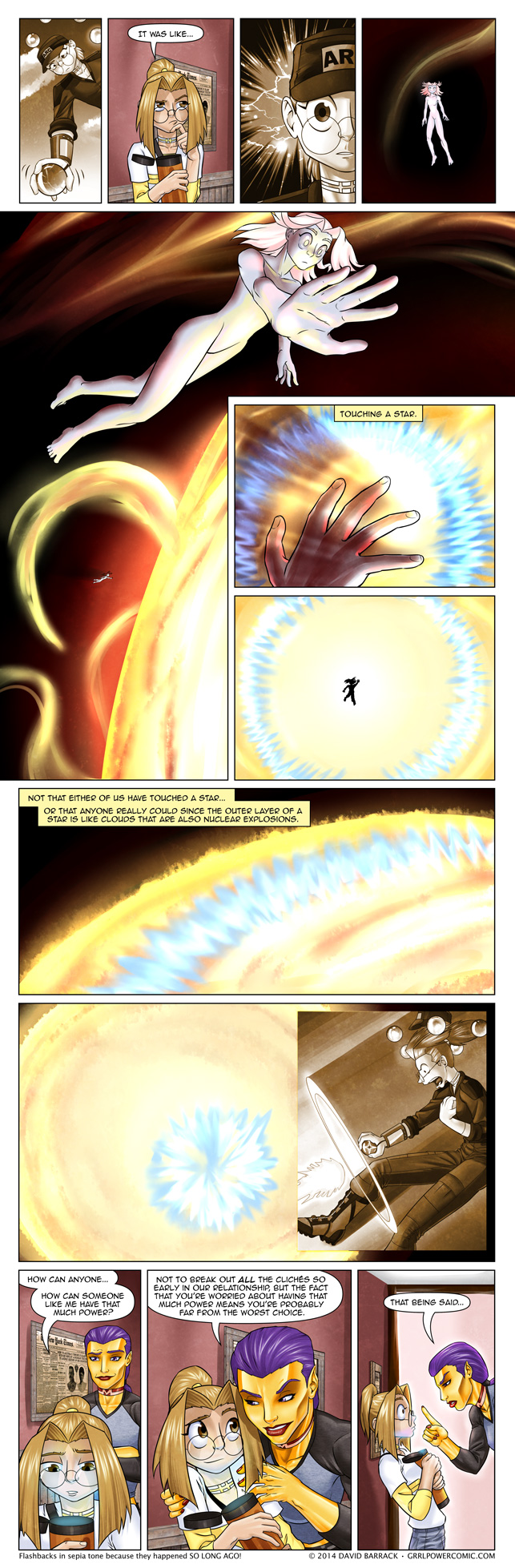 Grrl Power #192 – Touching star