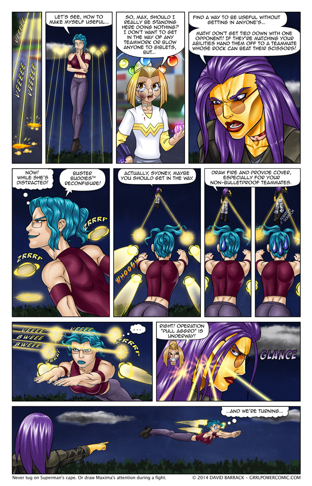Grrl Power #225 – Guess who switched from speed to armor