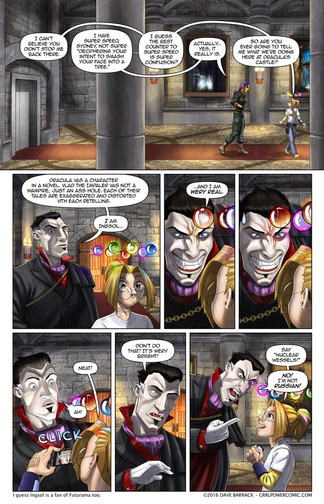 Grrl Power #440 – This reaction would earn him a D- at Monster U