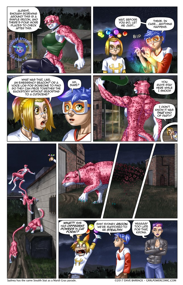 Grrl Power #495 – Any stealth employed at this point is just for practice