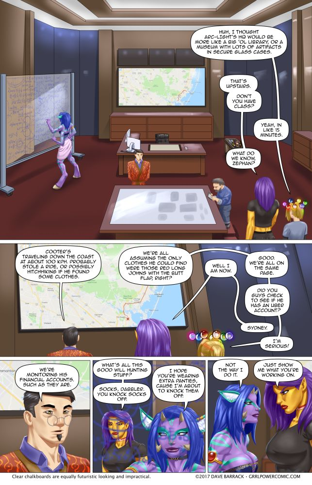Grrl Power #596 – Big brother is watching and making snide remarks