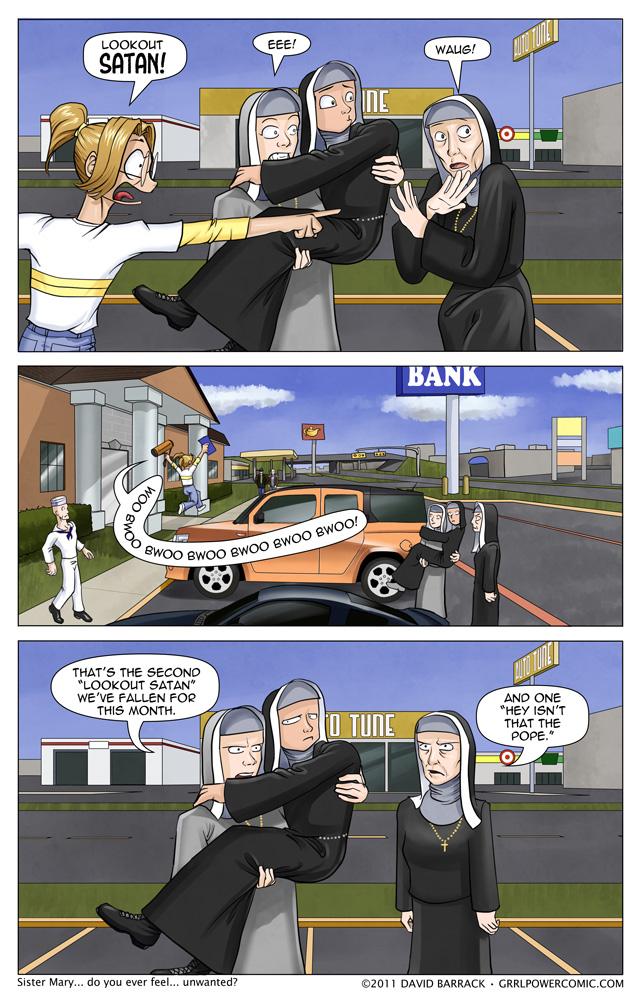 Grrl Power #34 – Distract-A-Nun!