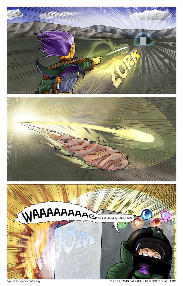 Grrl Power #160 – Explodiest beam vs. the shieldiest shield