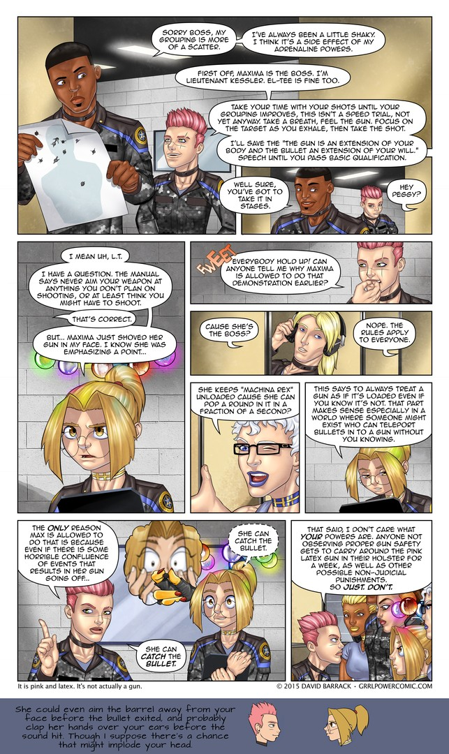 Grrl Power #332 – Guns and no nos