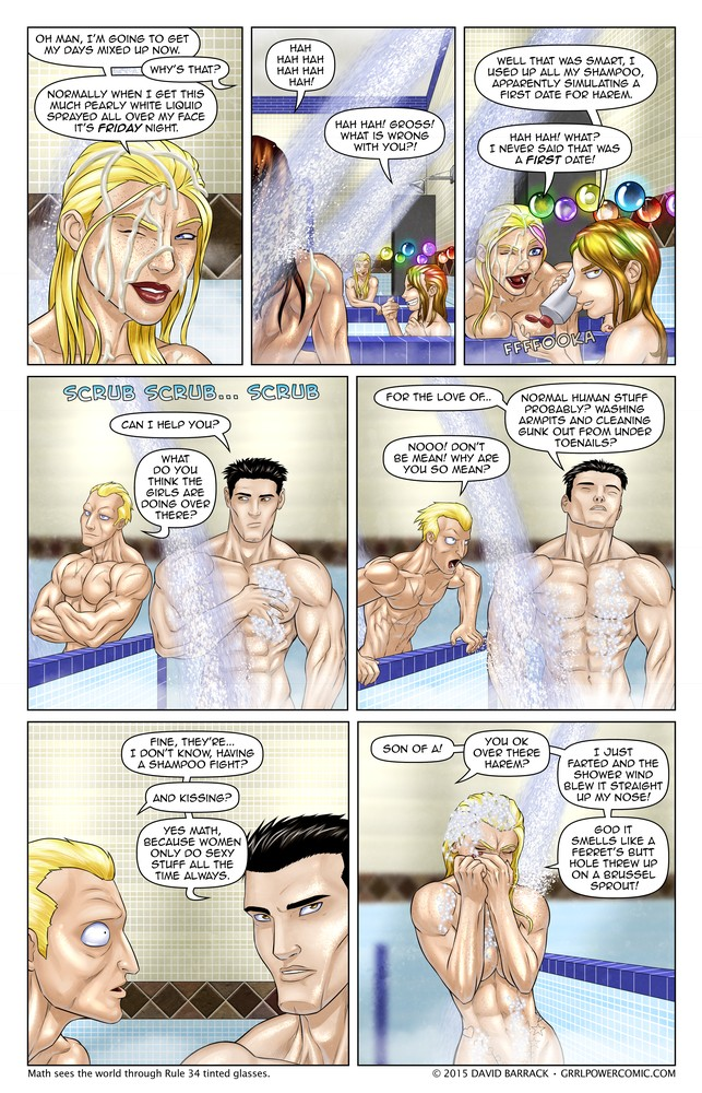 Grrl Power #339 – Superheroes in the shower