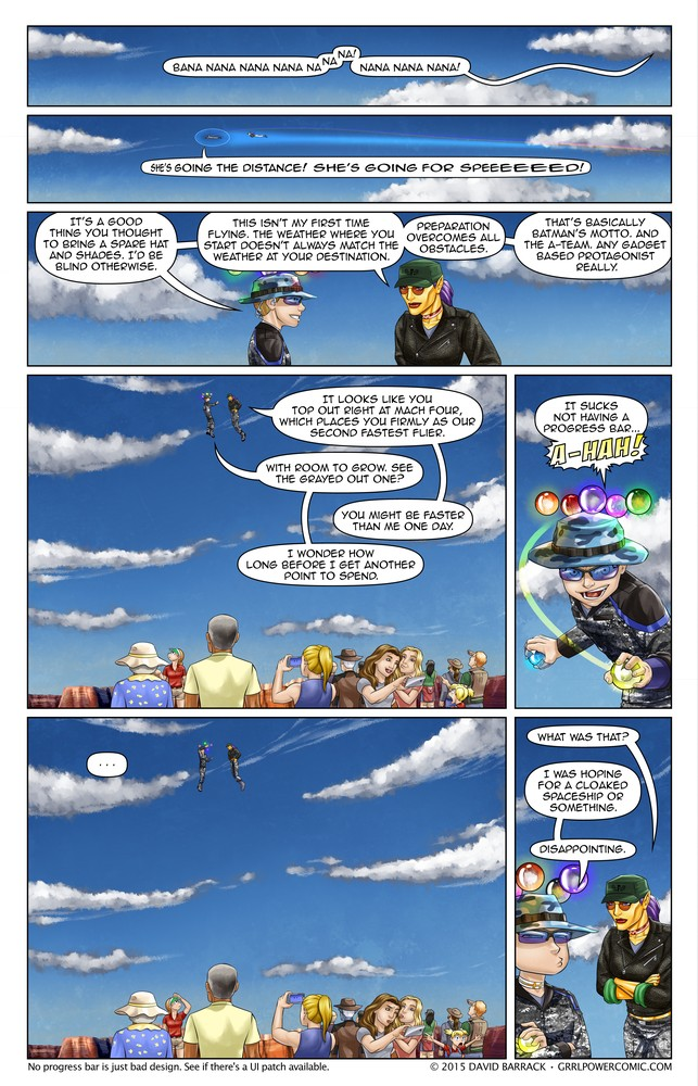 Grrl Power #354 – And I would fly 500 miles…