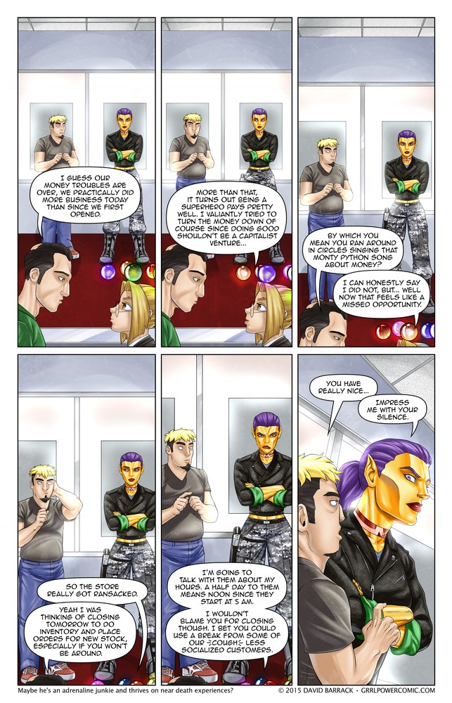 Grrl Power #357 – One of the least painful ways to get shot down by Maxima