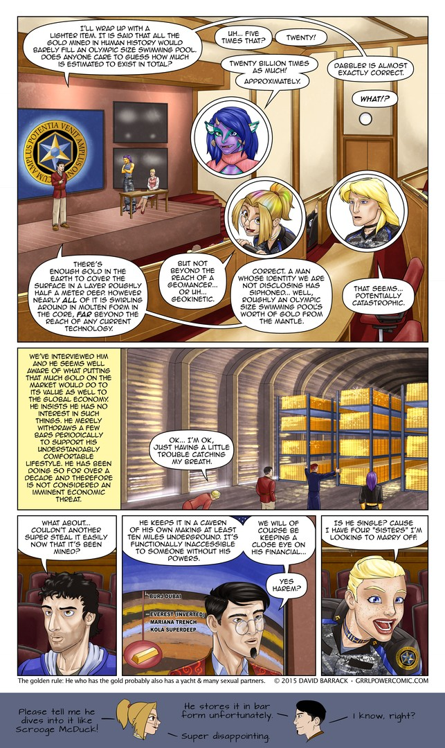 Grrl Power #368 – Billions of bullions