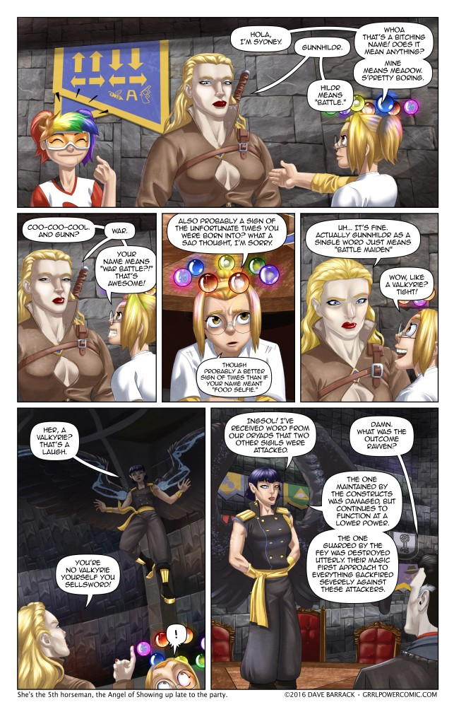 Grrl Power #487 – Semi-Angelic messenger