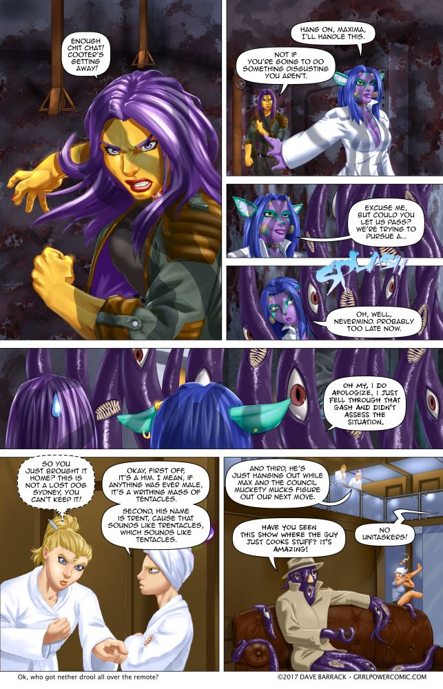 Grrl Power #587 – Good thing the Food Network isn't doing calamari week