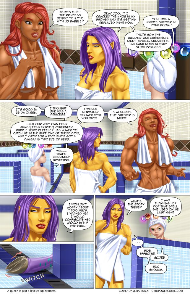 Grrl Power #590 – Fall from shower
