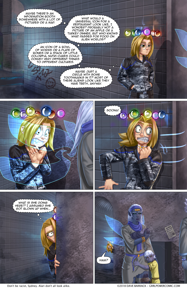 Grrl Power #682 – Encounter at Fracture Station