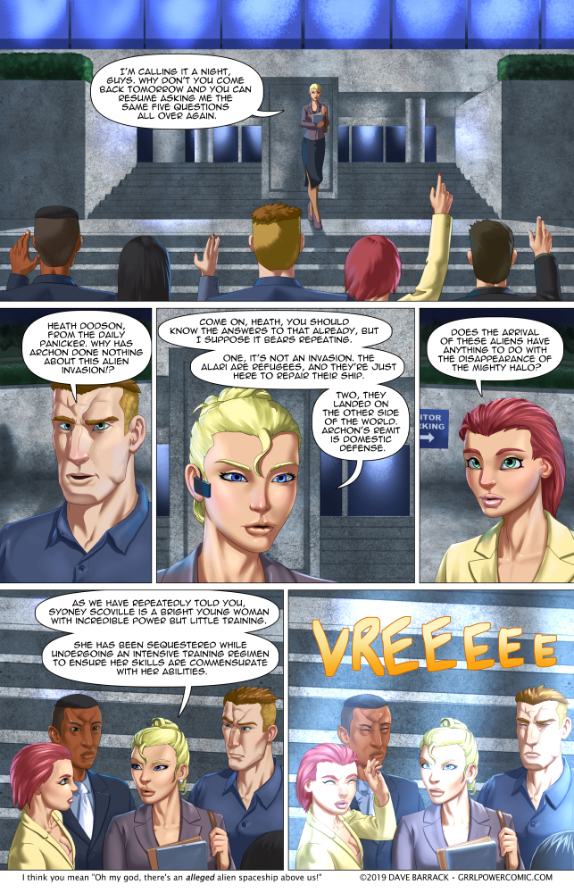 Grrl Power #720 – Beat the press… to the parking lot