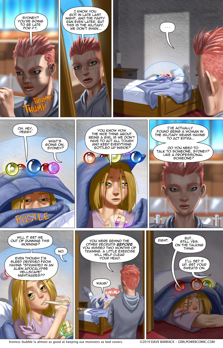 Grrl Power #747 – Physical Training Snooze… Don't