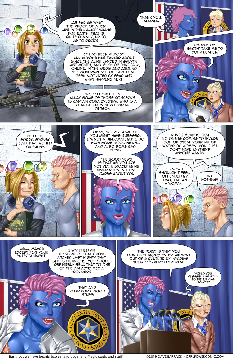Grrl Power #754 – And your race smells of elderberries
