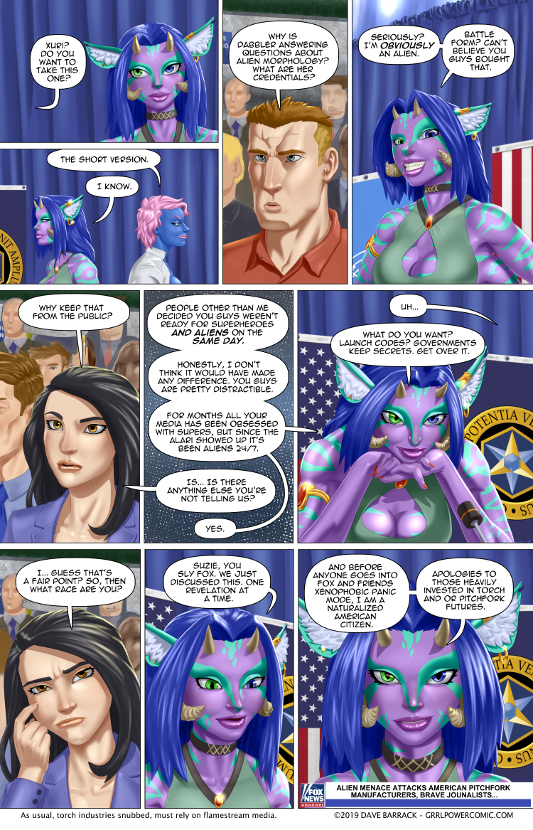 Grrl Power #758 – Dabbler('s non-terrestrial origin) revealed!