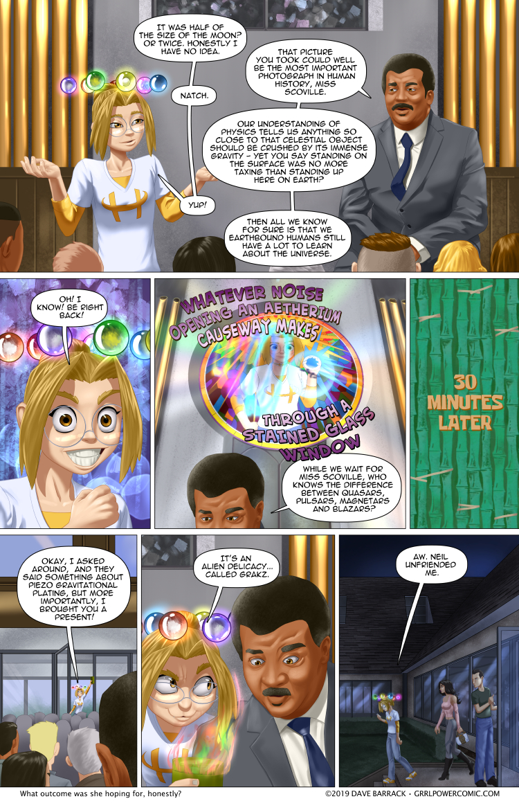 Grrl Power #784 – How to lose friends with alien cuisine