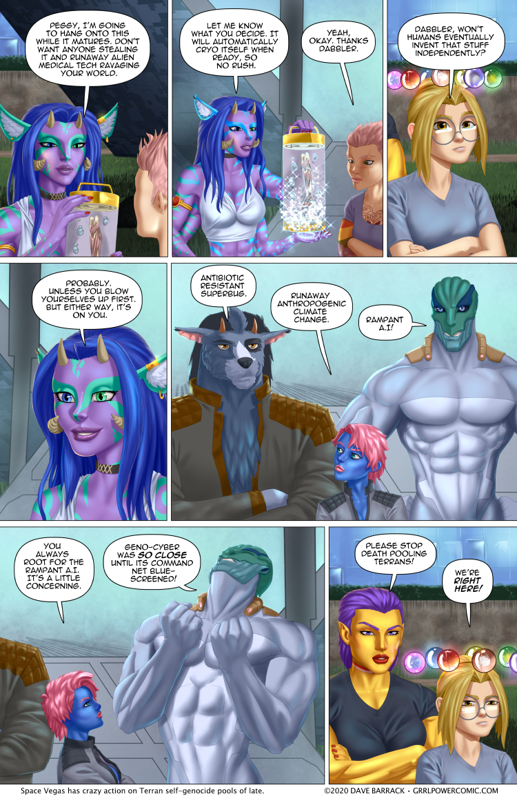 Grrl Power #857 – The Genosuicide Pool