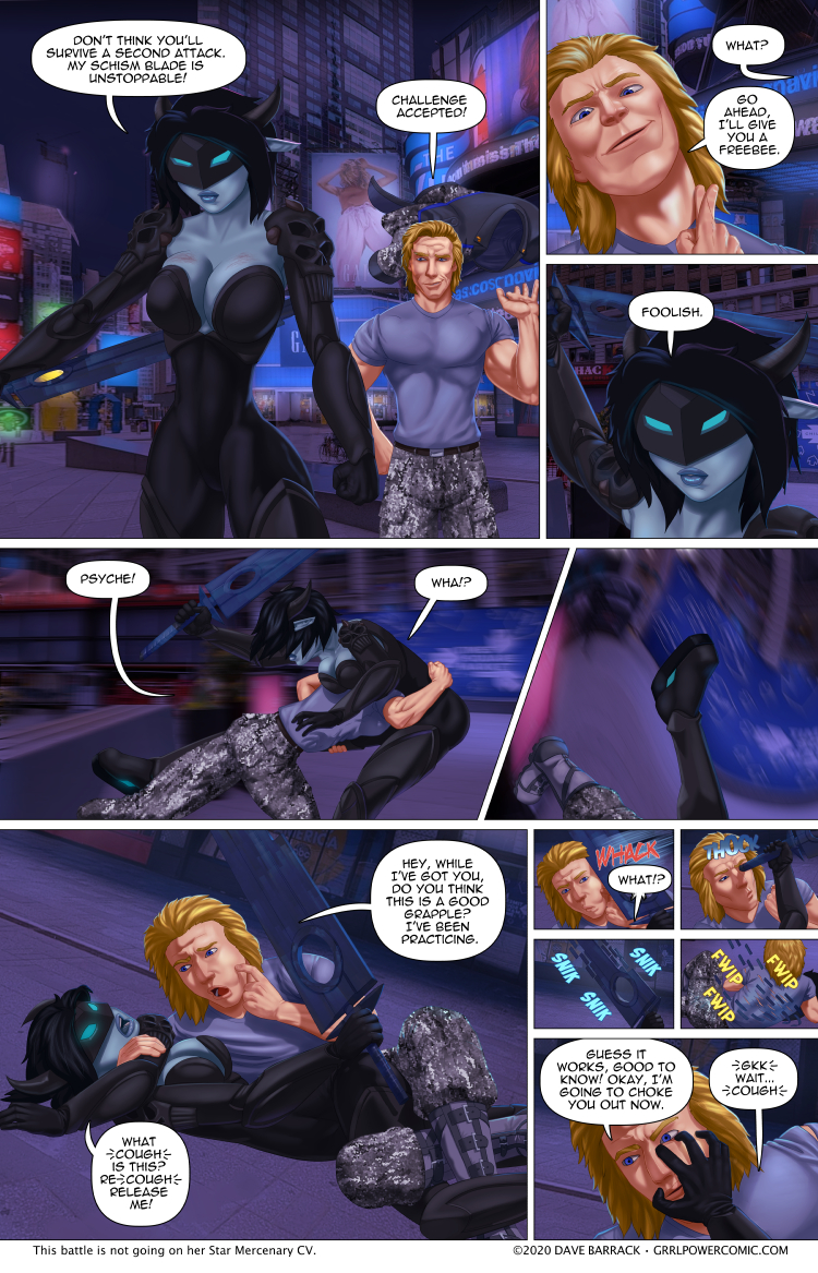 Grrl Power #879 – Immovable grapple