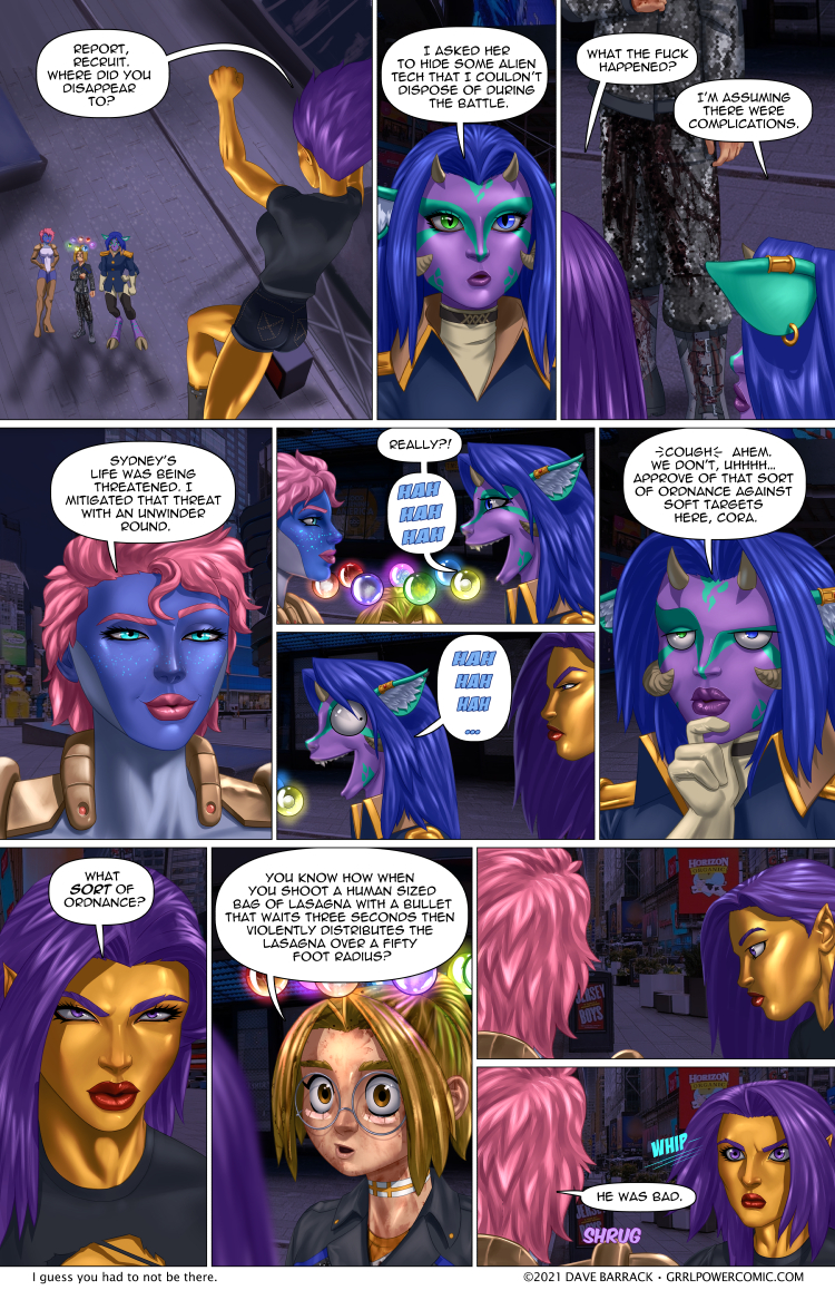 Grrl Power #922 – After action flippancy