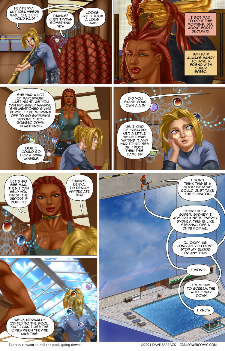 Grrl Power #938 – Fast friends in high places