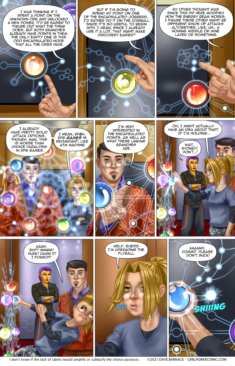 Grrl Power #945 – Upgradde with a double dose of indecision