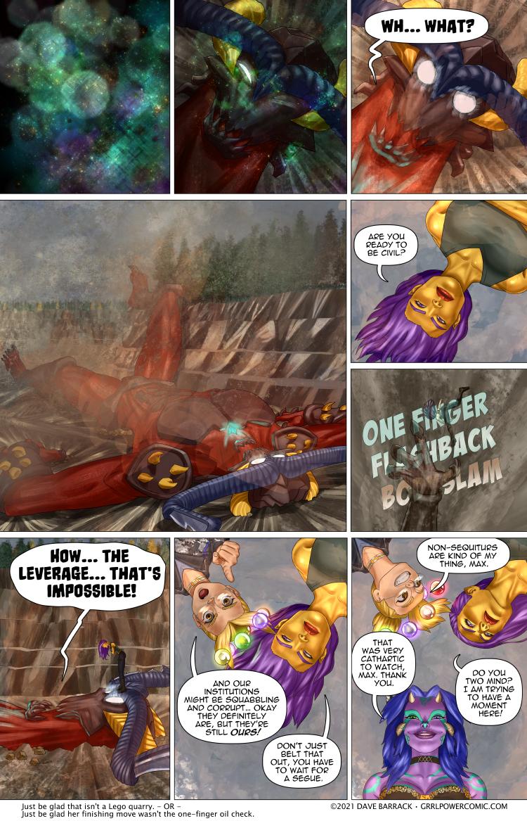 Grrl Power #985 – Big bodyslam diplomacy